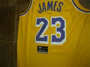 LEBRON JAMES AUTOGRAPHED SIGNED  NBA LAKERS BASKETBALL JERSEY W/COA