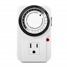 3-Prong Outlet 24 Hour Plug-in Mechanical Timer Grounded