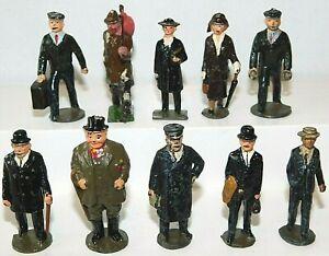 Old JOHILLCO England, 1950s Lead Train Passengers, Men & Women, 10 Pieces