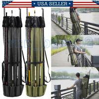 Fishing Rod Pole Reel Tackle Holdall Bags Storage Shoulder Carry Organizer Bag