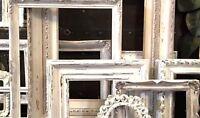 4 FRAMES SHABBY WHITE FARMHOUSE COTTAGE BOHO CHIC ~PETITE SET~Open Gallery~