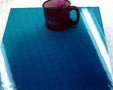 DEEP AQUA BLUE WATERGLASS Stained Glass SHEET or Mosaic Tiles FUSIBLE!