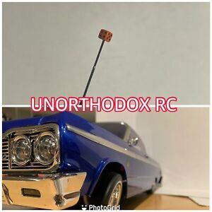 Redcat Sixty four Impala Jevries Rc Lowrider Pair Antenna Orange Dice