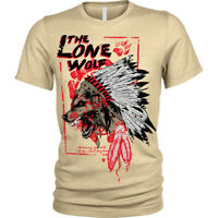 The lone wolf T-Shirt chieftan indian headress Unisex Mens