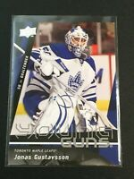 F60233  2009-10 Upper Deck #490 Jonas Gustavsson YG RC MAPLE LEAFS YOUNG GUNS