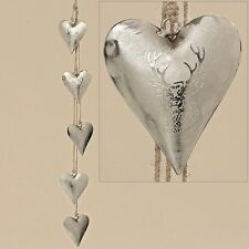 Metallo Cuore türkranz Benvenuti Bianco Grigio Decorazione Porta di Casa laccio 23441