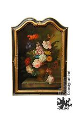 Signed Floral Still Life Oil Painting on Canvas Frances Ornate Frame Traditional