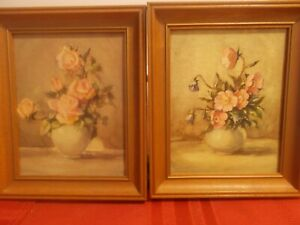Vintage  Countess Zichy Framed Floral Prints