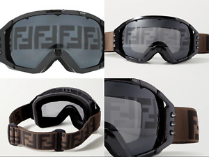 Fendi Studded Spike Ff Jacquard Strap Ski Goggles Glasses Sunglasses New