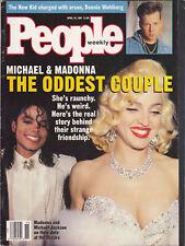 Michael Jackson Madonna PEOPLE WEEKLY Oscars American USA Magazine 1991
