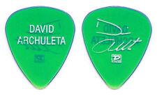 David Archuleta Clear Green Signature Guitar Pick - 2009 Tour