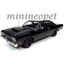 Autoworld Amm1232 Mcacn 1969 1/2 Plymouth Road Runner 1/18 Diecast Black