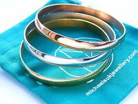 Stainless Steel Modern Women Bangle Set 3pcs Bracelet Gold, Rose Gold, Silver