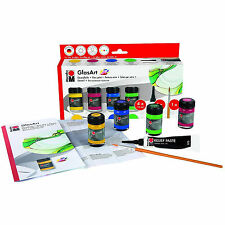 Marabu GLASART Paint Box Set. Transparent Artists Glass Paint for Art & Craft