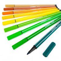 STABILO PEN 68 Fibre Tip Pens – Assorted Set of 9 Colours – Nature Tones