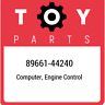89661-44240 Toyota Computer, engine control 8966144240, New Genuine OEM Part