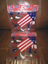 Patriotic Gel Flag Window Clings Set of Two.