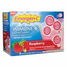 EmergenC Immune PLUS 1000mg Vitamin C, D + Zinc 30 packs, Rasberry FREE SHIPPING
