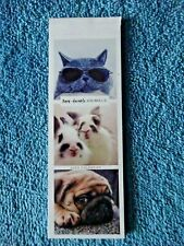 Beautiful Aww-dorable Animals Small Bookmark Calendar 2020 Tear-off month pages!