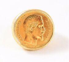 1856 20 Francs Gold Coin on 14kt YG Ring.