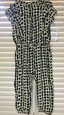JESSICA SIMPSON Infant/Toddler Black/White Printed Romper Sz 18/24 M NWT