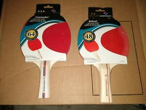 Sportcraft Contender (64) Reliant (48) Ping Pong Paddle Rackets (1 of each)