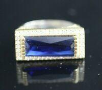 Turkish Handmade Jewelry Sterling Silver 925 Sapphire Ring 6,7,8,9