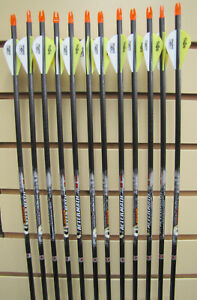 Easton Carbon Aftermath 340 Arrows Dozen Pack- Cut To Length FREE!