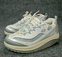 Skechers Shape Ups Women's White Silver 'Jump Start' Athletic Shoes 11803 Size 7