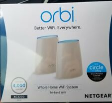 NETGEAR Orbi RBK40 Whole Home Mesh WiFi System with Tri-band Wireless router New
