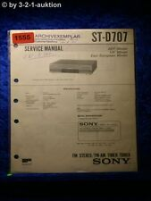 Sony Service Manual ST D707 Tuner (#1555)