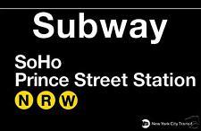 SoHo  New York Subway Station Sign Metal
