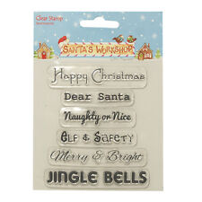 Helz Cuppleditch Santa's Workshop Clear Stamps - Sentiments