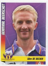 N°213 WIM DE DECKER # BELGIQUE GERMINAL BEERSCHOT STICKER PANINI FOOTBALL 2011