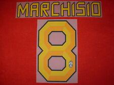 KIT MARCHISIO 8 GIALLO X MAGLIA CALCIO JUVENTUS NUOVO STILSCREEN NEW