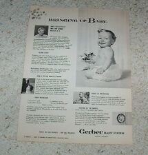 1957 ad page - Gerber Baby Food CUTE baby in ruffled diaper pants PRINT AD Page