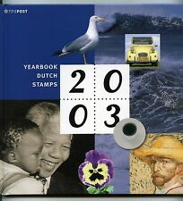 Yearbook 2003 stamps of the Netherlands with all stamps MNH -  book in english