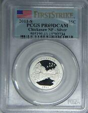 2011-S Chickasaw SILVER quarter PCGS PR69DCAM proof 1st Strike