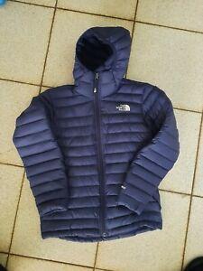 The North Face Boys Blue 550 Nuptse Hooded Jacket/coat Large - VGC