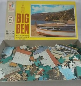 1968 Picturesque Boats 1000 Pcs Jigsaw Puzzle Counted Complete MB VTG See Pics!