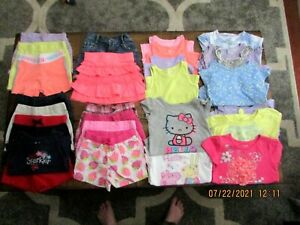 Lot of 3T Girls Summer Clothes 27 Pc. Hello Kitty, Peppa Pig, Shorts, Tanks, Top