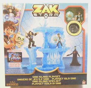 Sino Island Zak Storm Playset with Sino Zak Figure with Shield and Coin