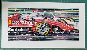PASSING THE TORCH Limited Ed. Serigraph by Randy Owens-signed by the Andretti's