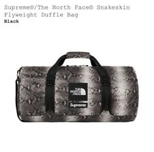 SUPREME x THE NORTH FACE SNAKESKIN BLACK FLYWEIGHT DUFFLE BAG NEW SS18 TNF Bogo