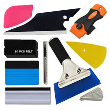 Car Window Wrapping Tint Fitting Vinyl Film Squeegee Complete Scraper Clean Tool