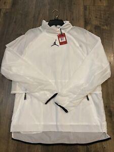NWT $100 Nike Jordan 23 Tech Training Pullover Gym White/Black (892085-100) Sz L