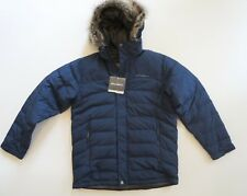Eddie Bauer Boundary Pass Down Parka (L) Mens Indigo 650 Fill Storm Repel Jacket