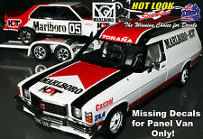 1:18 MARLB0R0 Decals HX Holden HDT Service Vehicle Panel Van Peter Brock 1978