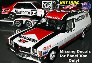 1:18 Missing Decals HX Holden HDT Service Vehicle Panel Van Peter Brock 1978