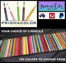 PRISMACOLOR PREMIER Colored Pencils - (150 Colors to choose from) - 5 Pencils